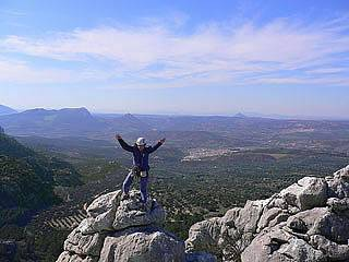 Summit of Los Pinos in the Camarolo hills in Andalucia,Spain