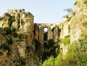 Overview of Ronda from the Via Ferrata