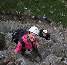 Scrambling on Cneifion Arete
