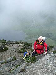 Scrambling on Tryfan