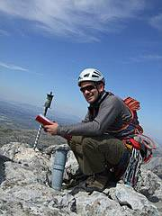 Summit log book on El Chamizo in Mountains north of Malaga