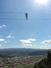 Via ferrata - high cable walk