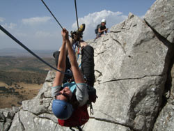 Tyrolean Traverse on El Torcal