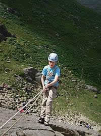 Abseiling on Tryfan - Learn to Lead Course