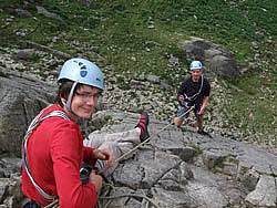 Climbing leading course in Snowdonia