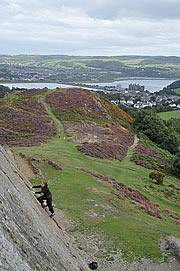 Climbing above Conwy
